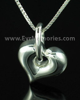 Sterling Silver Hanging Heart Urn Keepsake
