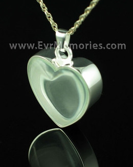 Sterling Silver Clear Heart Memorial Jewelry