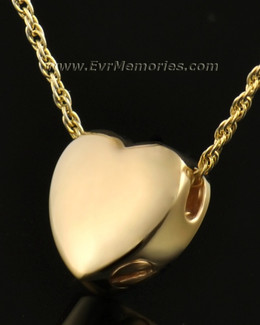 14k Gold Dedication Heart Jewelry Urn