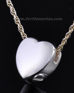 Sterling Silver Dedication Heart Ash Pendant