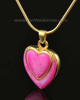 14k Gold Crimson Heart Remembrance Pendant