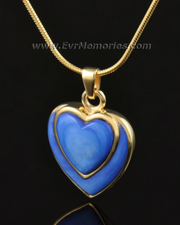 14k Gold Indigo Heart Memorial Jewelry