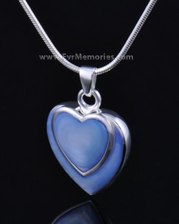 Sterling Silver Indigo Heart Urn Necklace
