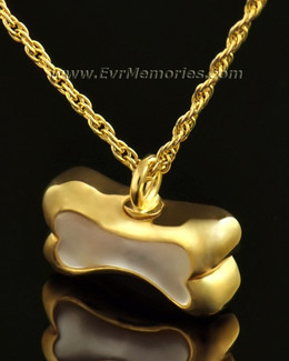 14k Gold Pearly Bone Ash Locket