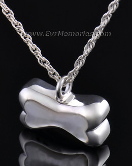 Sterling Silver Pearly Bone Cremation Urn Locket