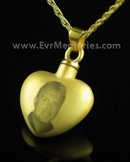 Gold Plated Tenderness Heart Necklace Urn