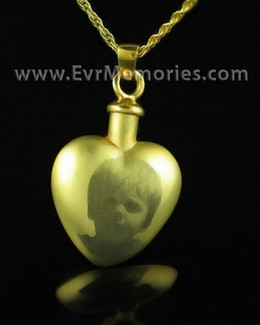 Gold Plated Affection Heart Cremation Locket