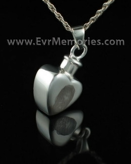 Sterling Silver Caring Heart Memorial Jewelry