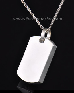Sterling Silver Simple Rectangle Memorial Locket