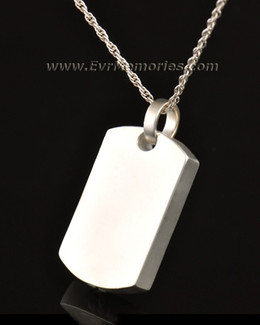 14k White Gold Simple Rectangle Memorial Locket