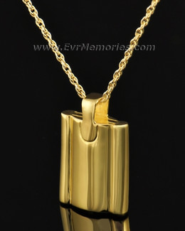 Gold Plated Gentleman's Flask Memorial Jewelry
