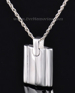 Sterling Silver Gentleman's Flask Urn Locket