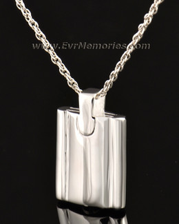 14k White Gold Gentleman's Flask Urn Locket