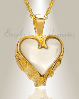 Gold Plated Innocent Heart Funeral Jewelry