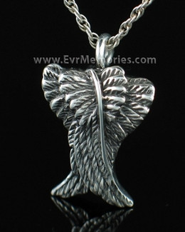 Sterling Silver Angelic Cremation Necklace