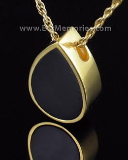 Gold Plated Onyx Tear Remembrance Jewelry