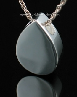 Sterling Silver Simple Tear Cremation Necklace