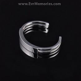 Stainless Steel Women's Elegance Cuff Cremation Bracelet