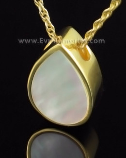 Gold Plated Pearly Tear Memorial Pendant