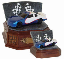 Speedway Series Blue Race Car Keepsake Urn