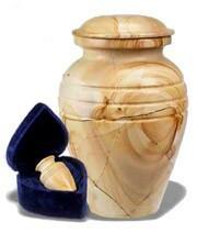 Teak Wood Marble Urn