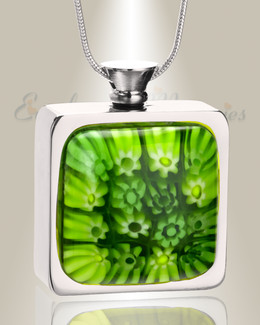 Evergreen Bouquet Cremation Locket