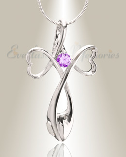 Purple Peaceful Moments Memorial Jewelry-evr6091purple