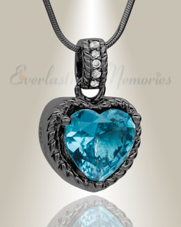 Black Sea of Hearts Cremation Jewelry-evr6481b