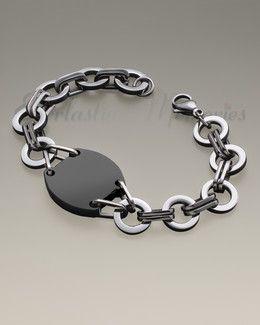 Stainless Black Plated Valiant Bracelet Cremation Jewelry-evr6600bl