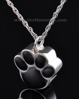 Silver Onyx Paw Cremation Keepsake-evr728ss