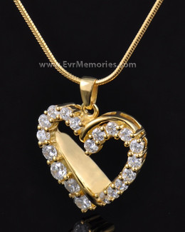 14K Plated Glimmer Heart Cremation Keepsake-evr888gv