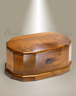 Walnut Oval Cremation Urn-evr9183