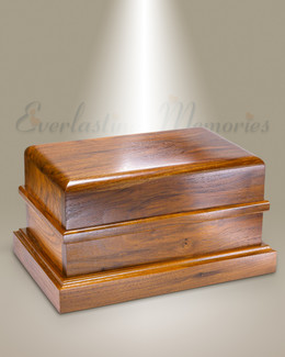 Walnut Companion Cremation Urn-evr9185