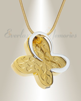 Gold Plated Wakeful Butterfly Urn Pendant