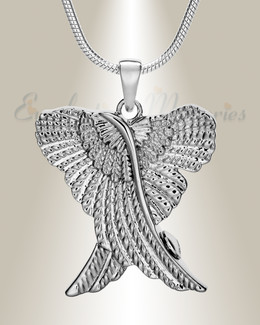 Silver In Peace Urn Pendant