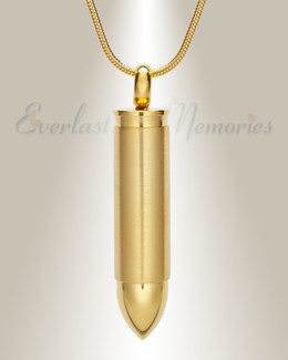 Gold Bolt Urn Pendant