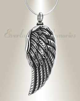 Stainless Quill Urn Pendant