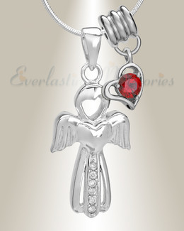 January Virtuous Angel Memorial Jewelry