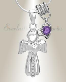February Virtuous Angel Memorial Jewelry