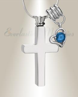 September Remembrance Cross Locket Necklace