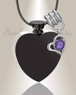 Stainless February Everlasting Journey Urn Pendant