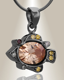 Black Pufferfish Cremation Jewelry