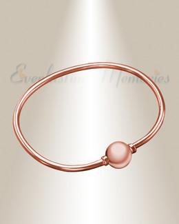 Rose Gold Codder Bracelet Cremation Jewelry