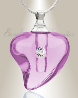 Glass Locket Violet Lovely Cremation Jewelry