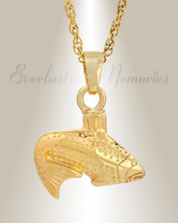 Fish Memorial Jewelry 14K Gold