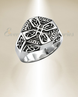 Silver Crossroads Urn Cremation Ring