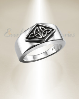 Silver Lassie Cremation Ring