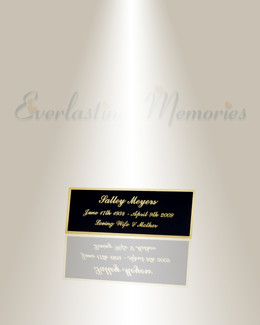 Small Pisces Engraved Plate