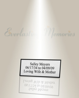 Medium Libra Engraved Plate