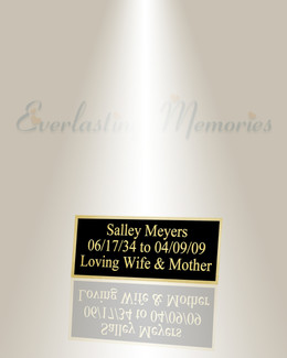Medium Sculptor Engraved Plate